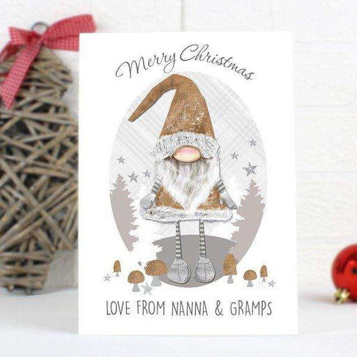 Personalised Scandinavian Christmas Gnome Card from Pukkagifts.uk