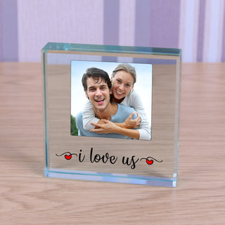 I Love Us Photo Glass Token