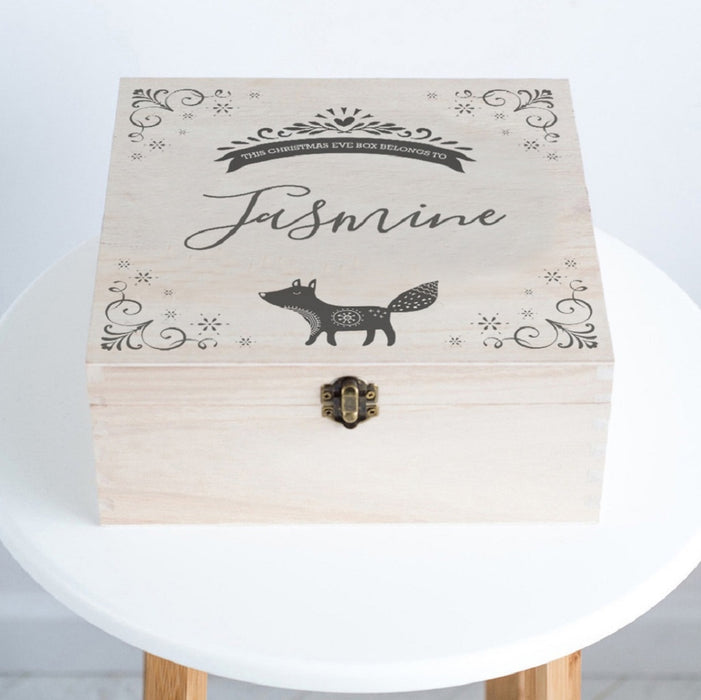 Personalised Fox Christmas Eve Box