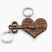 Personalised You Hold The Key To My Heart Keyring Set Of Two