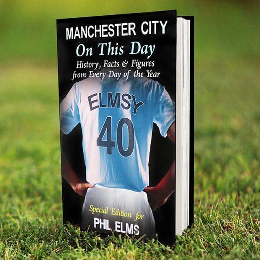 Personalised Manchester City On This Day Book from Pukkagifts.uk