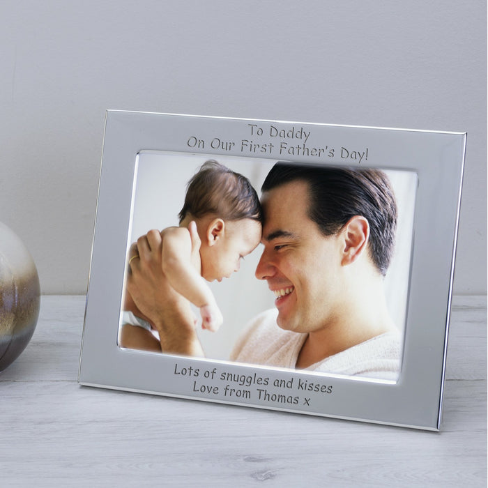 Personalised To Daddy On Our First Father's Day Photo Frame