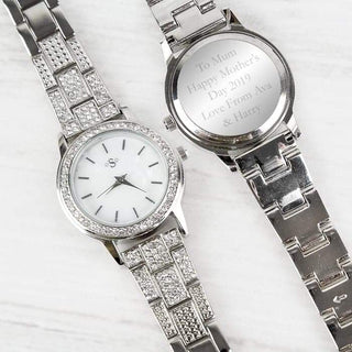 Personalised Diamante Ladies Watch from Pukkagifts.uk