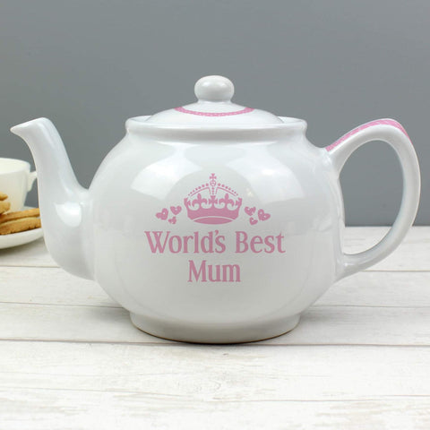 Personalised World's Best Teapot from Pukkagifts.uk