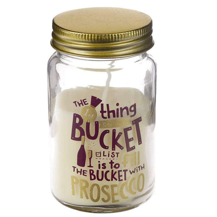 Summer Fragranced Candle Tin Jar - Prosecco Slogan from Pukkagifts.uk