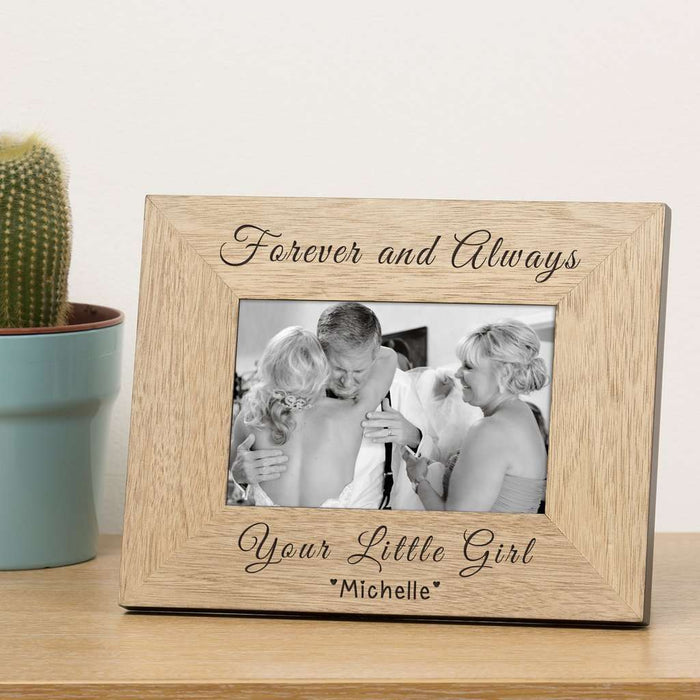 Personalised Forever and Always Your Little Girl Photo Frame 6x4 from Pukkagifts.uk