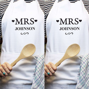 Personalised Mrs & Mrs Aprons,Pukka Gifts