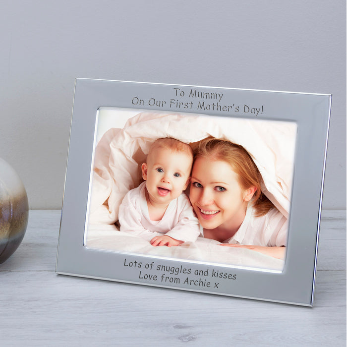 Personalised To Mummy On Our First Mother's Day Photo Frame
