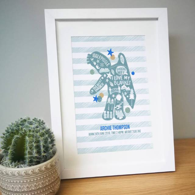 Personalised In The Night Garden Igglepiggle Framed Print