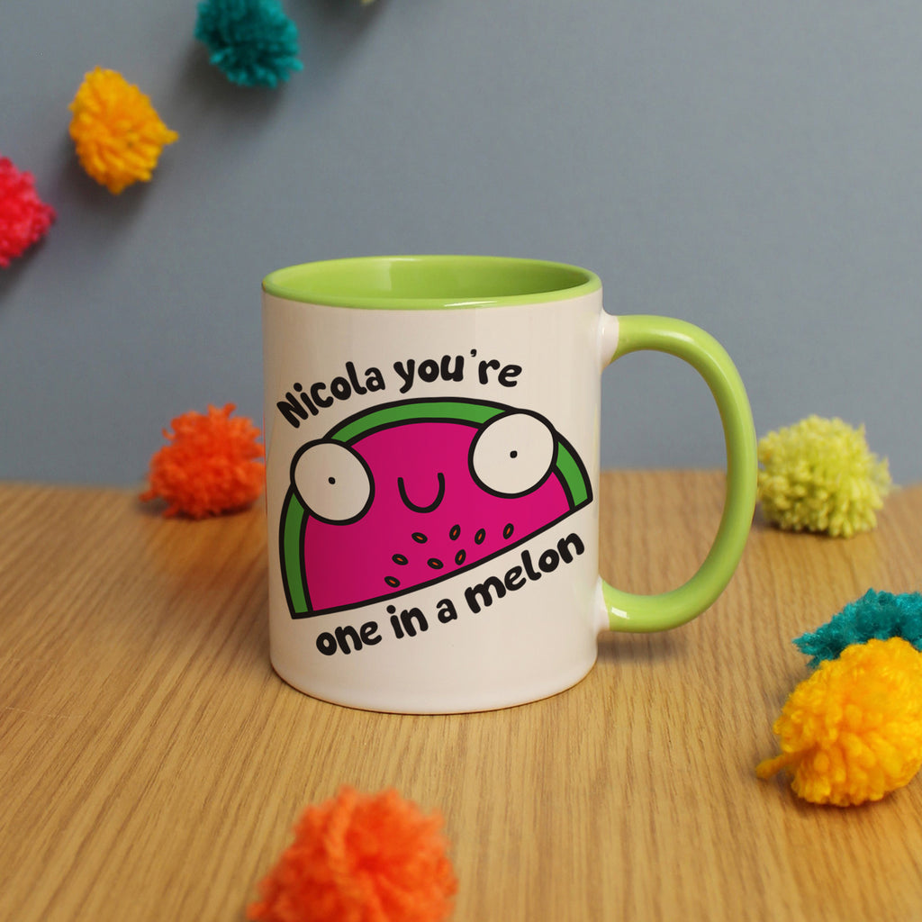 Personalised You're One In A Melon Mug