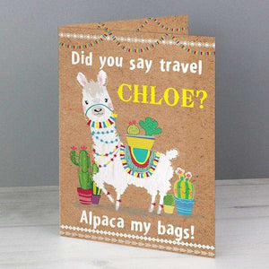 Personalised Llama Card,Pukka Gifts