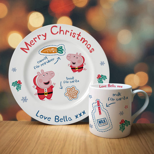 Personalised Peppa Pig Christmas Eve Santa Treat Set