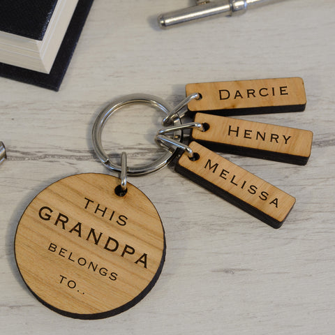 This Grandpa Belongs To Keyring from Pukkagifts.uk
