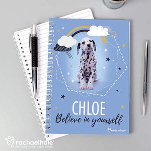 Personalised Rachael Hale Dalmatian A5 Notebook from Pukkagifts.uk