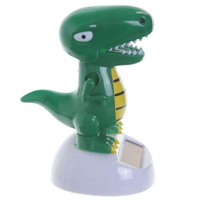 NOVELTY SOLAR POWERED DANCING T-REX DINOSAUR DASHBOARD TOY HOME OR CAR from Pukkagifts.uk