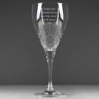 Personalised Cut Crystal Wine Glass from Pukkagifts.uk