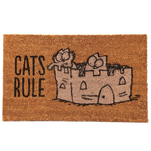 Simon's Cat Coir Doormat - Cat's Rule from Pukkagifts.uk