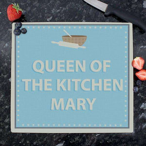 Personalised Baker Glass Chopping Board from Pukkagifts.uk