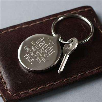 Personalised Bestest Daddy Ever Keyring from Pukkagifts.uk