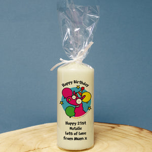 Personalised Llama Happy Birthday Candle