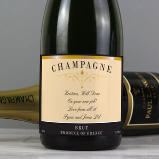 Personalised Any Message Classic Label Champagne Bottle