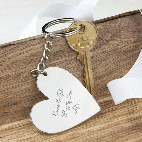 Personalised Heart Keyring,Pukka Gifts