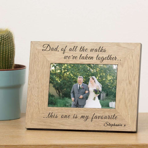 Dad Of All The Walks We've Taken Photo Frame 7x5 from Pukkagifts.uk