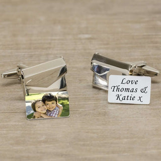 Personalised Message And Photo Envelope Cufflinks from Pukkagifts.uk
