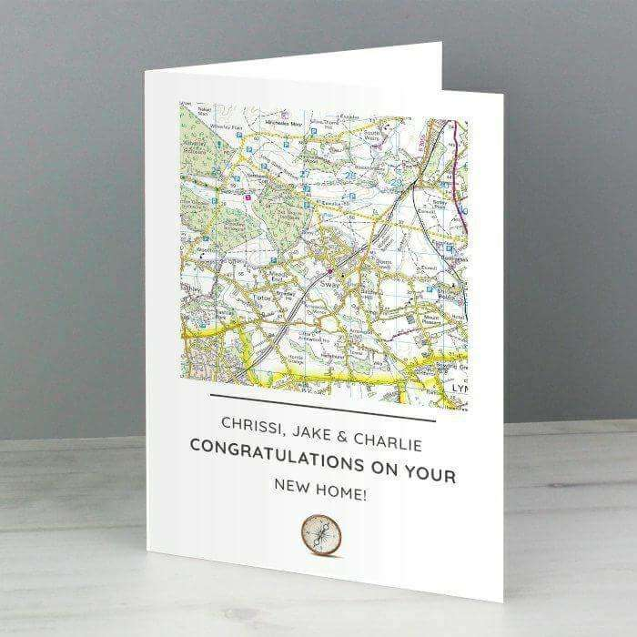 Personalised Special Location Map Card from Pukkagifts.uk