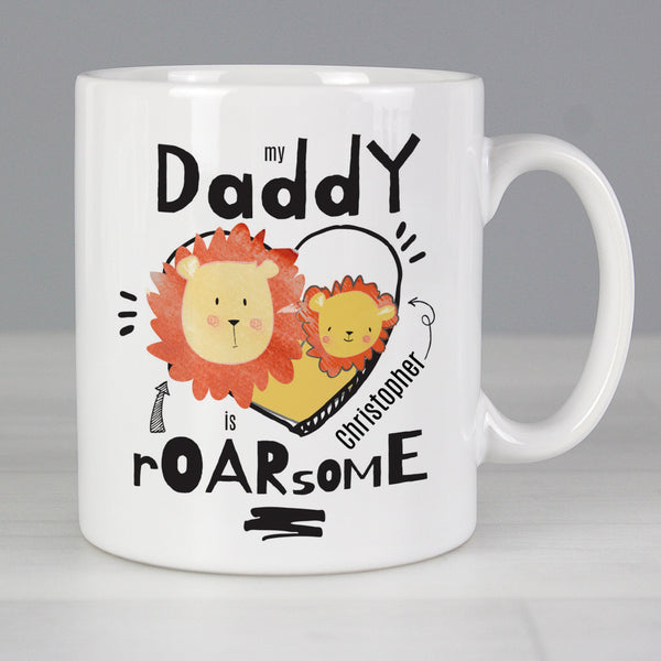 Personalised My Daddy Is Roarsome Mug