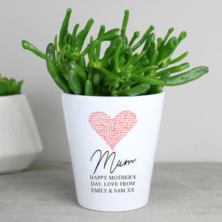 Personalised Heart Plant Pot