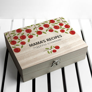 Personalised Recipe Box - Orchard from Pukkagifts.uk