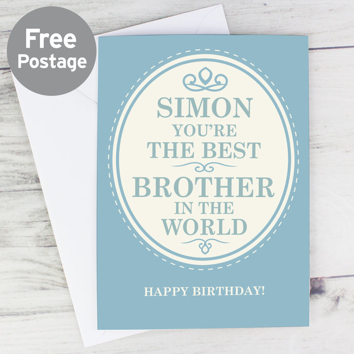 Personalised The Best in the World Card