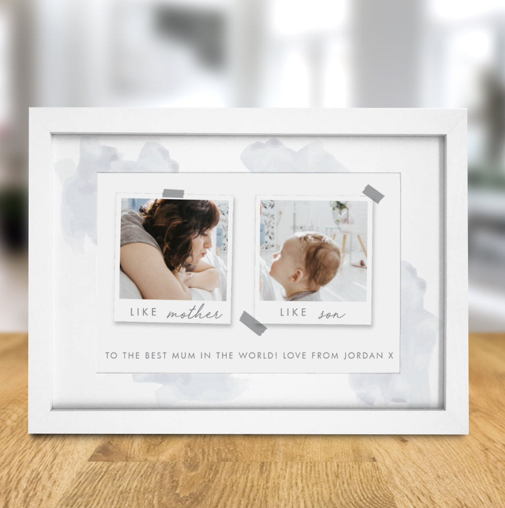 Personalised Like Mother Like Son Polaroid A4 Framed Print