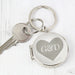 Personalised Couples Initials Photo Locket Keyring