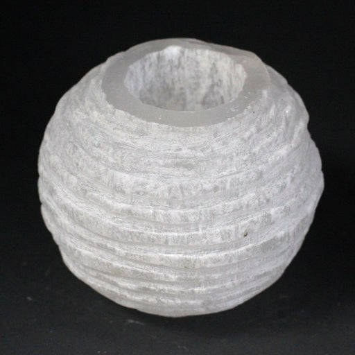 Selenite Snowball Candle Holder - 8 cm