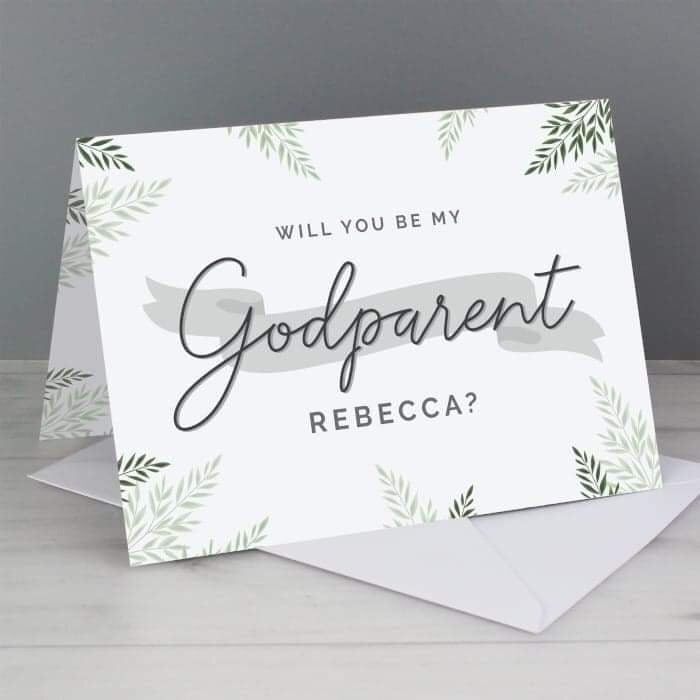 Personalised Godparent Card from Pukkagifts.uk
