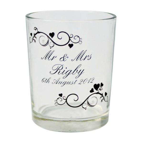 Personalised Ornate Swirl Votive Candle Holder from Pukkagifts.uk