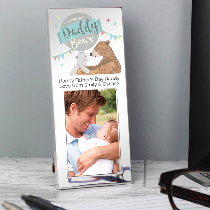Personalised Daddy Bear Photo Frame 3x2