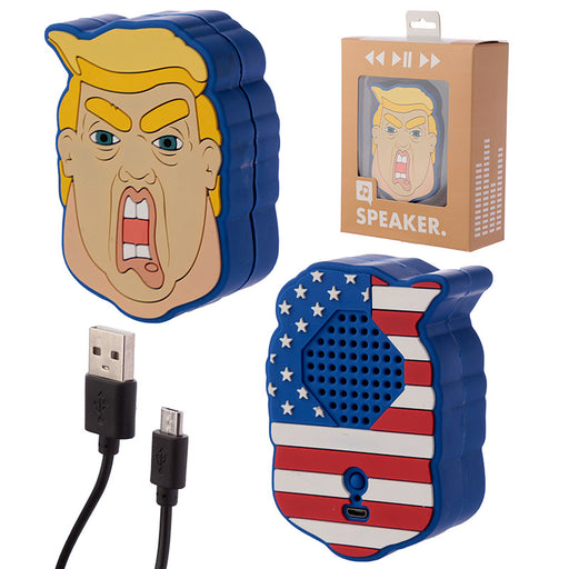 President Donald Trump Bluetooth Portable Speaker from Pukkagifts.uk