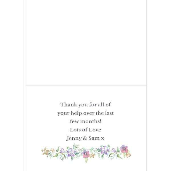 Personalised Thank You For Being My Maid Of Honour Card from Pukkagifts.uk