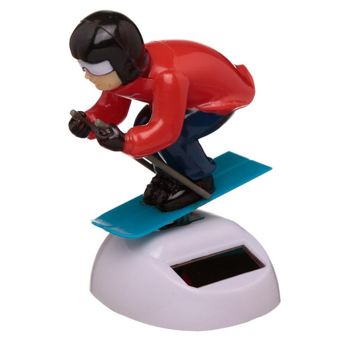 Skier Solar Powered Dashboard Toy