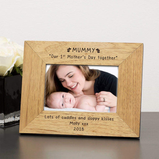 Personalised MUMMY Our 1st Mothers Day Together Photo Frame from Pukkagifts.uk