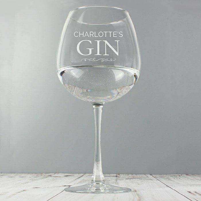 Personalised Gin Balloon Glass from Pukkagifts.uk
