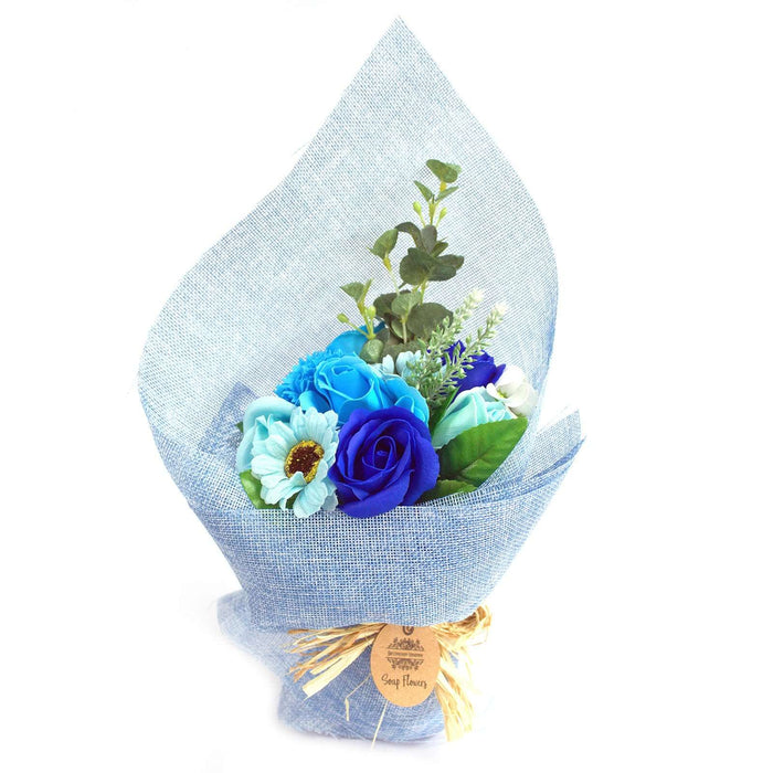Standing Soap Flower Bouquet - Blue from Pukkagifts.uk