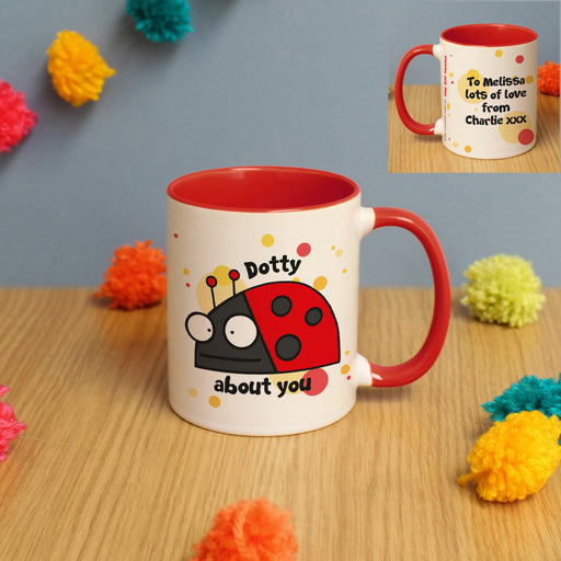 Personalised Flossy and Jim Dotty About You Mug