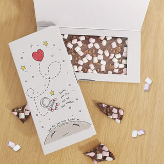 Personalised You Are Out Of This World Milk Chocolate Card