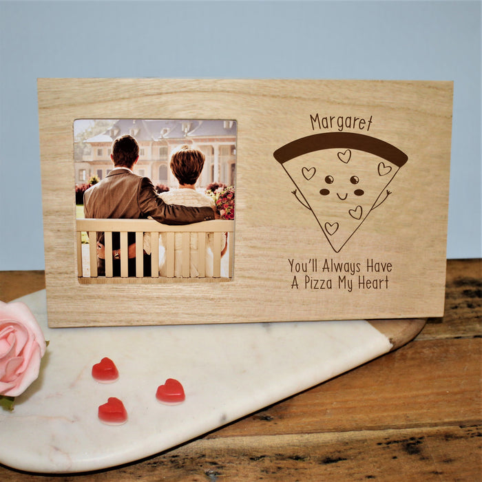 Personalised You'll Always Have A Pizza My Heart Photo Frame from Pukkagifts.uk
