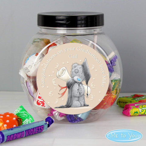 Personalised Me to You Graduation Sweets Jar from Pukkagifts.uk
