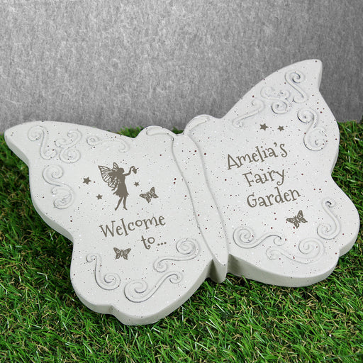 Personalised Fairy Garden Butterfly Ornament